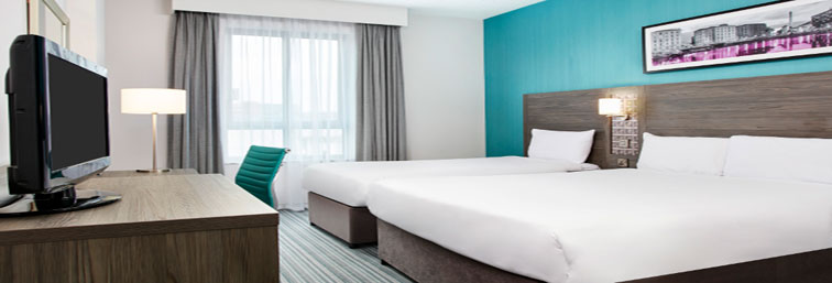 Twin room at Jurys Inn at Aberdeen Airport