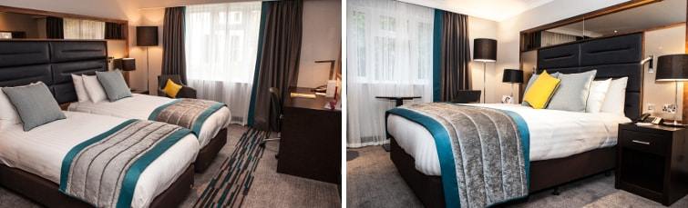 Rooms at the Crowne Plaza Felbridge