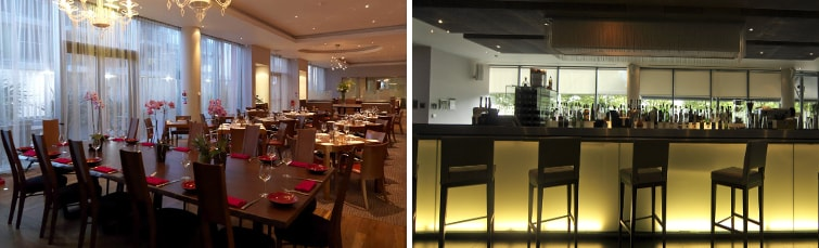 Restaurant at the Crowne Plaza Docklands