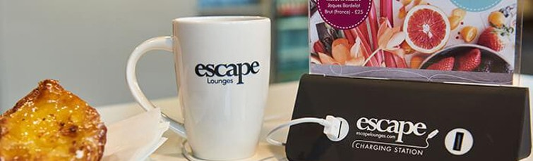 Recharge at the Escape Lounge