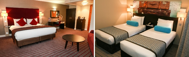 Rooms at the Mercure Hotel Heathrow