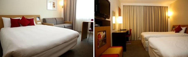 Rooms at the Novotel Heathrow