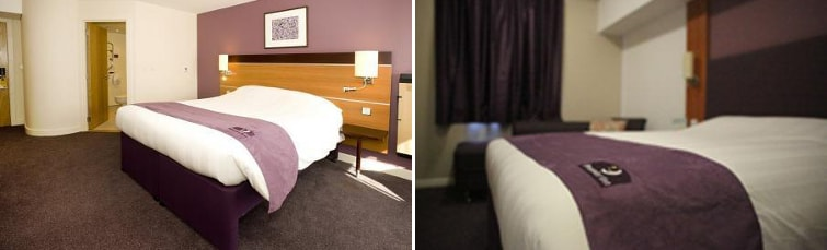 Rooms at the Premier Inn Stansted