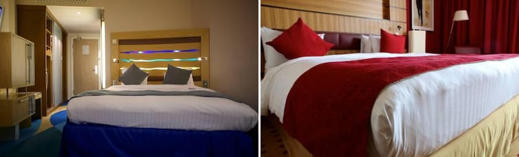 Rooms at the Radisson Blu Stansted Airport