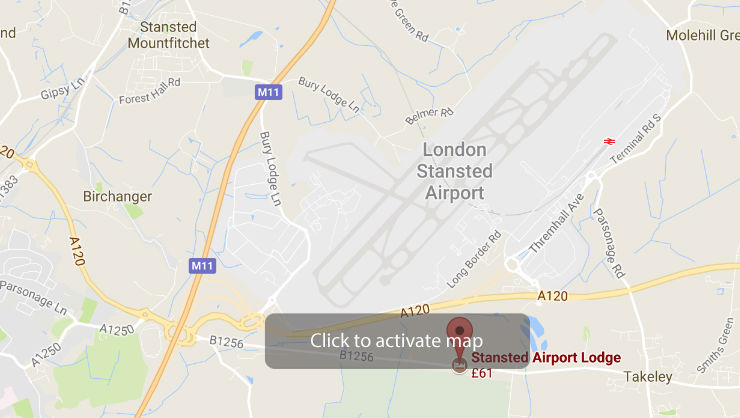 Stansted Airport Lodge Map