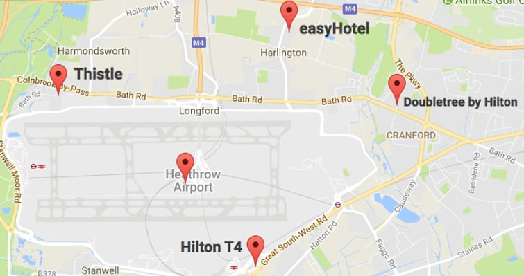 Heathrow Hotels With Parking Cheap Deals Near Airport Terminals