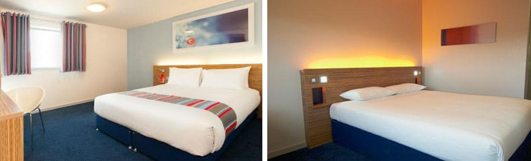 Rooms at the Travelodge London City Airport