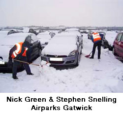 airparks gatwick - snow