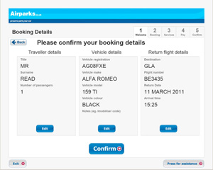 Confirm your booking details