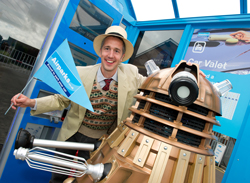 A Dalek visits Cardiff Airparks