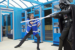 Howard Dove CEO Airparks clashes with Darth Vader
