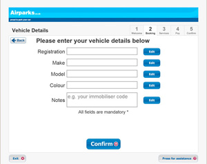 Enter your car details