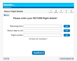 Enter your flight details