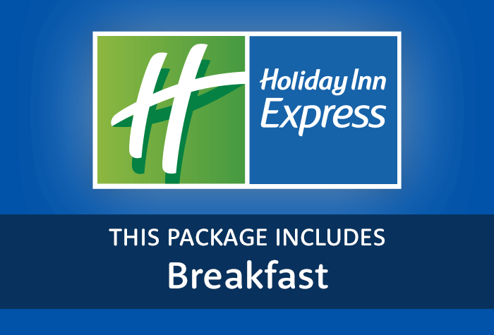 Express by Holiday Inn with breakfast logo